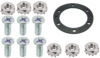 "Gasket kit for Standard Heater- Includes 6ea 8-32x1/2"" screws, 1ea flat gasket, 6ea 8-32 kep nuts"
