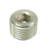 1/8-27 304 S/S Hex Socket Plug